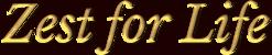Zest for Life Logo